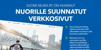 Suomi-Seura ry on avannut nuorille suunnatut verkkosivut. Kuvassa nuori mies skeittaa sillalalla