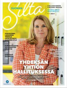 Suomen Silta -lehden kansikuva, jossa Sanna Suvanto