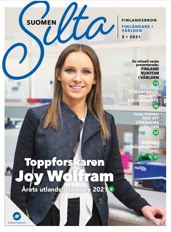 Finlandsbron, toppforskaren och årets utlandsfinländare 2021 Joy Wolffram