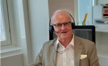Suomi-Seuran ry:n puheenjohtaja, valtiopäiväneuvos Markus Aaltonen